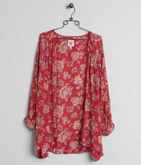 Billabong Saltwater Shore Cardigan - Women's Kimonos in Hibiscus | Buckle