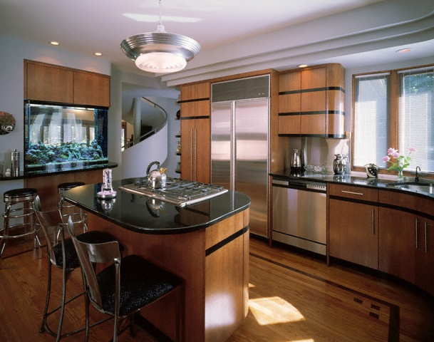 49 best images about art deco kitchens on pinterest for Art deco kitchen designs