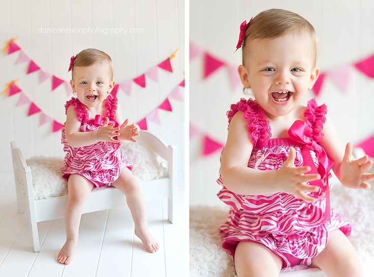 Good Birthday Gift For 1 Year Old Baby Girl: 1 Year Old Baby Girl Birthday Photo. Danica Nelson