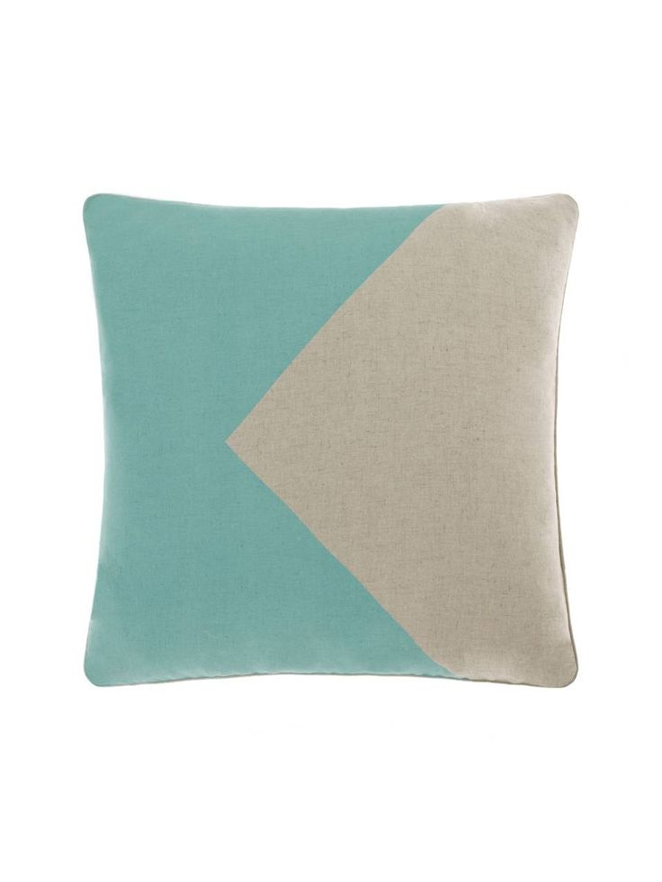 CUSHIONS ONLINE FLAG 48X48CM TEAL CUSHION