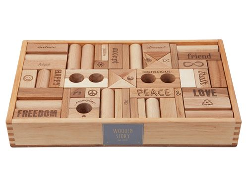 Wooden Story - Peace & Love Blocks 108 Pieces  Leaning so much - building and being a good person   #Entropywishlist #pintowin