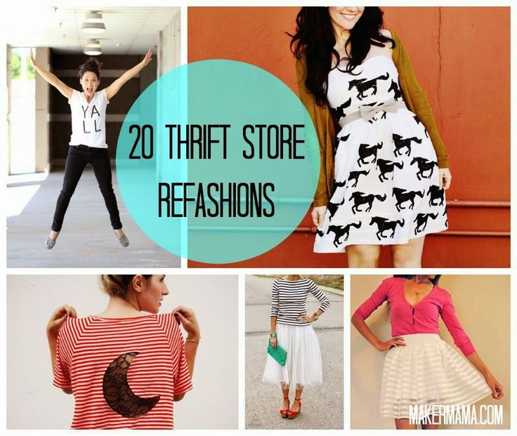 Maker Mama Craft Blog: 20 Thrift Store Refashions