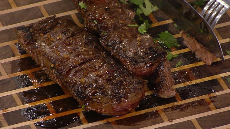 Al Roker shares a recipe for a Brazilian-style flank steak with chimichurri sauce, inspired by the restaurant Texas de Brazil.