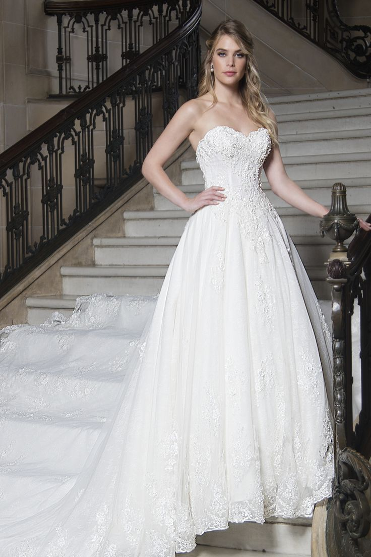 Sweetheart neckline ball gown from Mary's Bridal - Couture D'Amour.