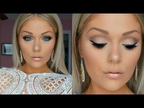 Makeup naturale sposa per chi ha gli occhi marroni e i capelli scuri. Applicazione ciglia finte e leggero countouring.