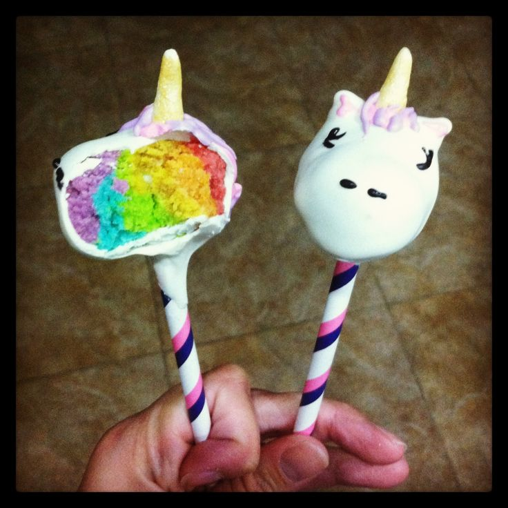 Unicorn Cake Pops!! They are magically delicious!
