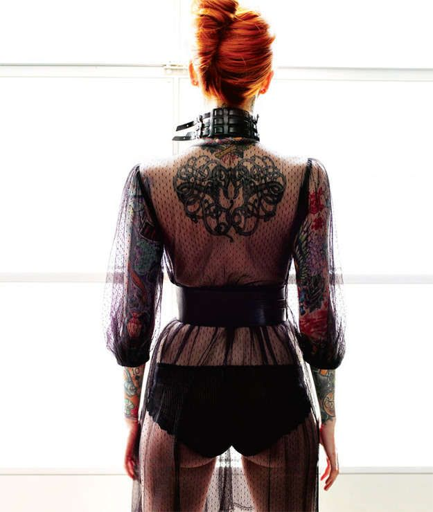 Hot Redhead Tattoography - Oh man, here I come again with yet another hot tattoo photoshoot, and this time it gets real. The Red Alert photoshoot from Inked Magazine features...