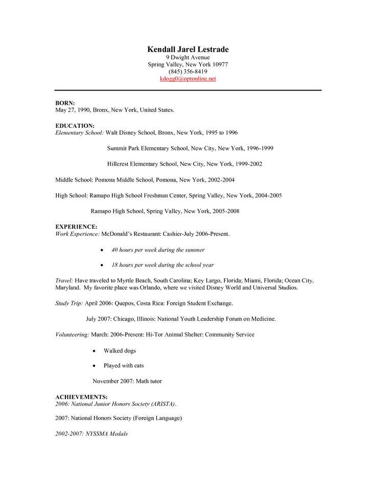 freshman sample porter resume cover letter
