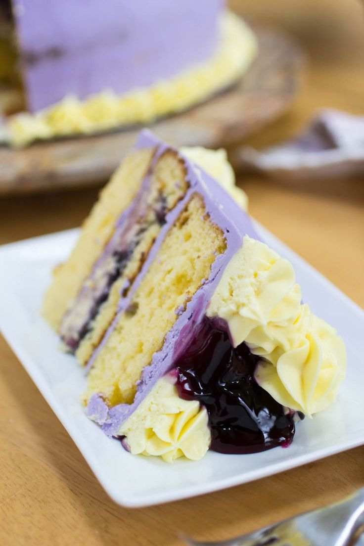 Spring Blueberry Lemon Pudding Cheesecake Cake