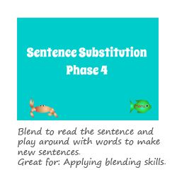 Sentence Substitution Phase 4 phonics game
