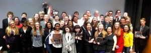 """When it comes to debate, Roosevelt is becoming a dynasty. In addition to a slew of individual and team honors at the state and national level in recent years, in 2014 the Riders have claimed the debate """"trifecta,"""" winning both the All-Iowa Speech and Debate titles this past weekend on top of the IHSSA State Debate Tournament in January. Congratulations to the team members and coaches on another championship season!"""