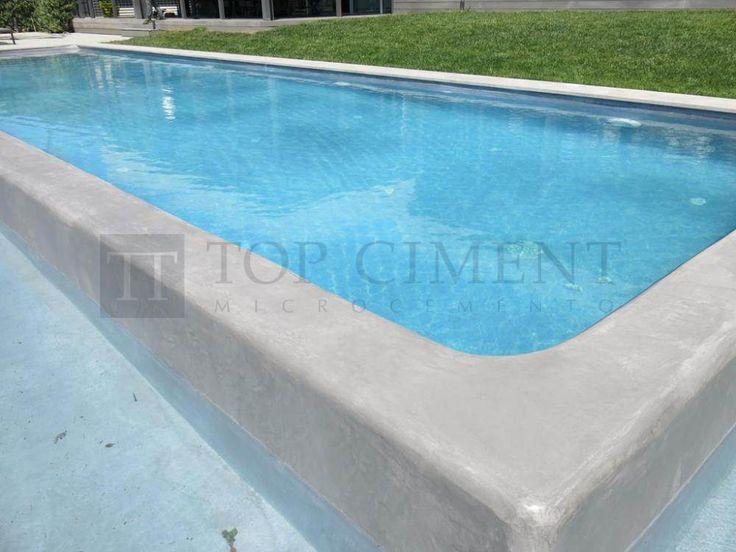 piscina de diseño con microcemento