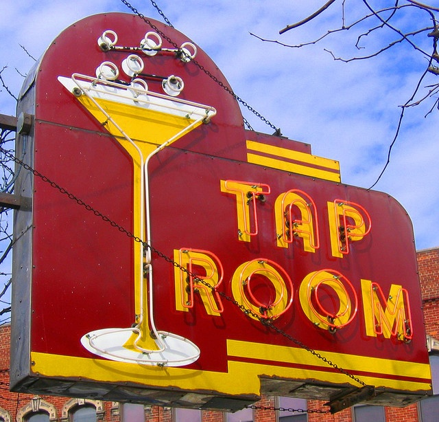 Wow! Someone pinned this along with other cool neon signs nationwide, and it just happens to be my local watering hole right down the street. Long live the Tap Room!