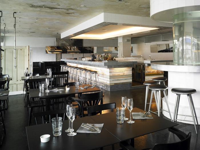 the best new nordic restaurants in copenhagen fiskebar - Beaded Inset Restaurant Interior