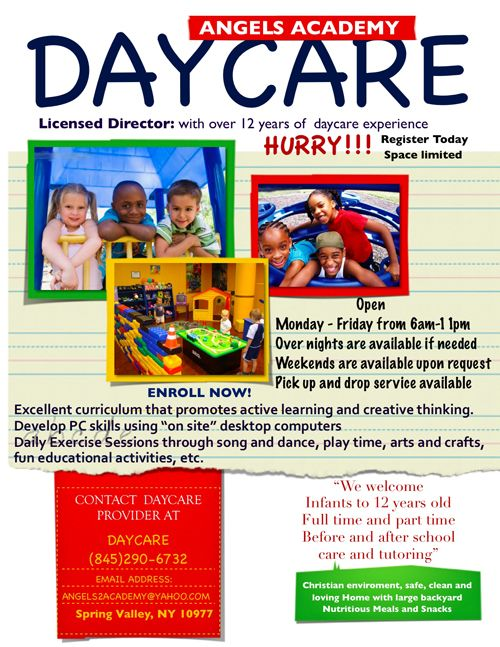 Pin by riana barksdale on open house ideas pinterest for Daycare brochure template