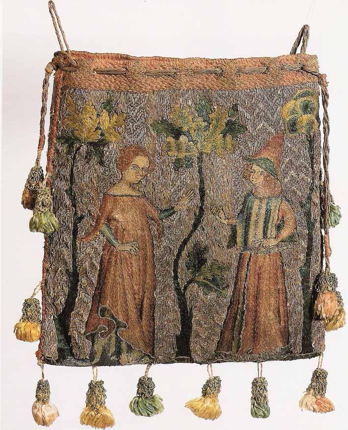 Purse, or aumonnière. Worked in Paris c. 1340.