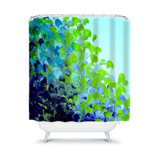 CREATION IN COLOR Blue Green Ocean Waves Fine Art Shower Curtain by EbiEmporium, Whimsical Ombre Colorful Lime Green Turquoise Aqua Deep Indigo Navy Blue Sea Splash Brushstrokes Abstract Painting Modern Bathroom Home Decor #modern #bathroom #homedecor #shower #curtain #showercurtain #turquoise #ombre #blue #green #dorm #stylish #cool #decorative #ocean #sea #beach #abstract #painting #fineart #art #abstractpainting