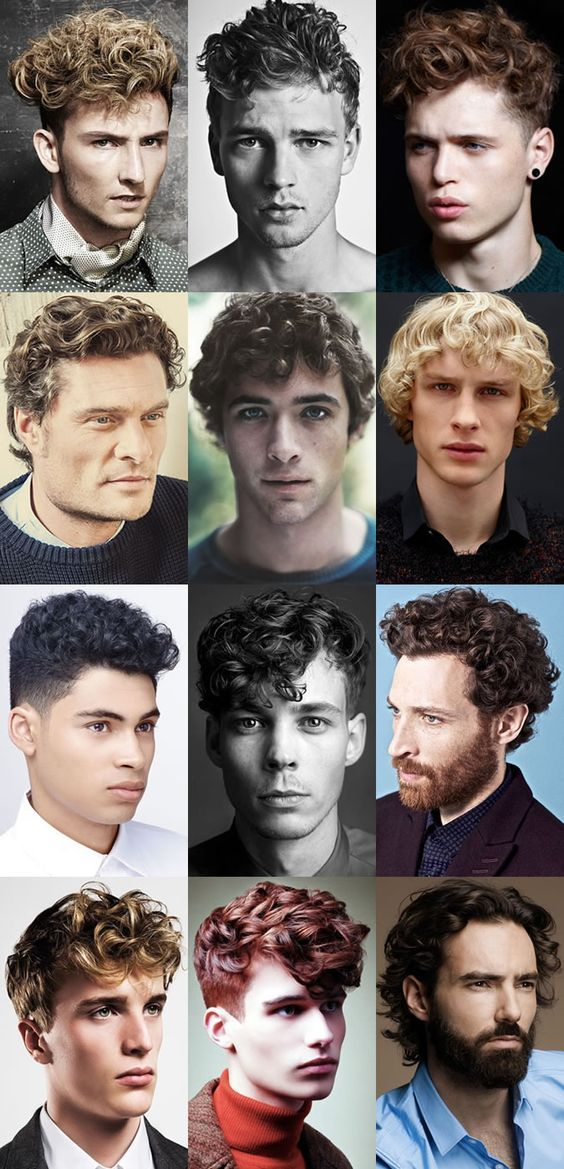 Men's Curly Hair.