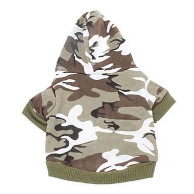 Cotton Camouflage Pattern Hoodies for Dogs (Assorted Color,XXS-M) – USD $ 6.99