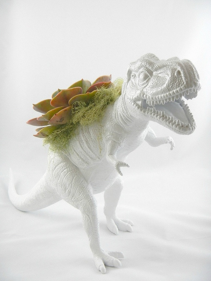 Oh My God This Is Awesome White Dinosaur Planter
