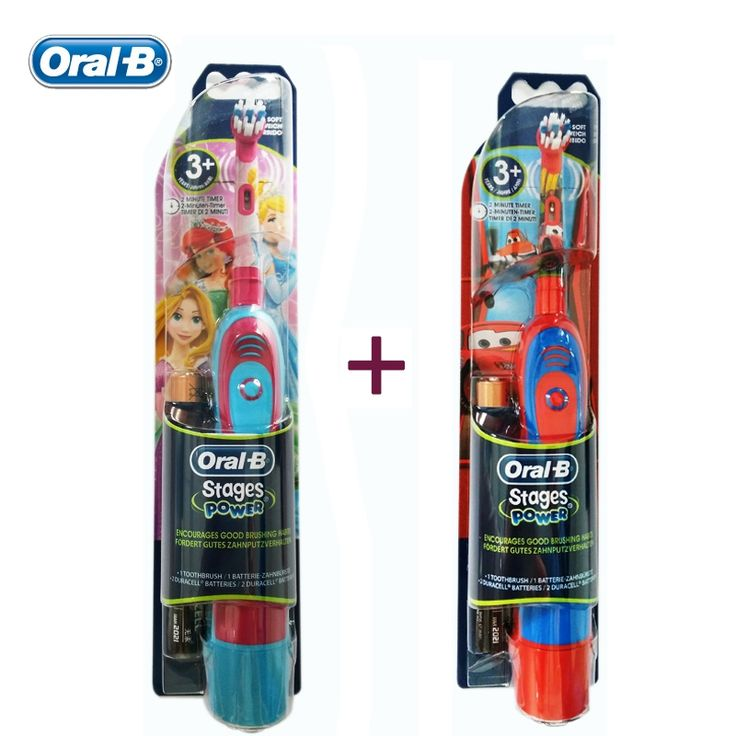(43.84$)  Watch here  - Oral B kids Electric Toothbrushes Cartoon Series Boys and Girls Oral Hygiene ChildrenTooth Brush with AA Battery (Twin Pack)
