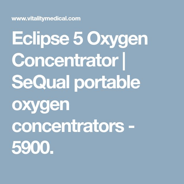 Eclipse 5 Oxygen Concentrator | SeQual portable oxygen concentrators - 5900.