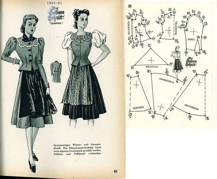 1940s (1940) German Women's Dirndl Lutterloh 1940-81 ...