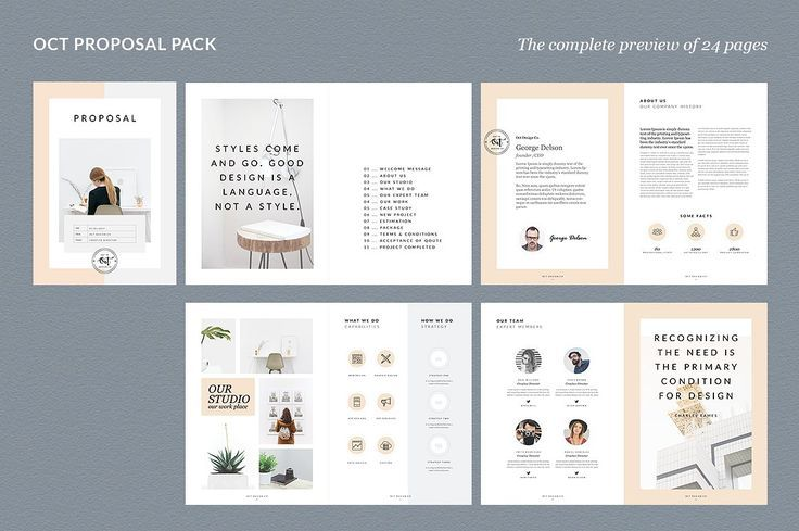 Proposal Pitch Pack by Graphicsegg on @creativemarket Printing brochure template with one of the best creative design and great cover, perfect for modern corporate appearance for business companies. This layout is modern, simple and feminine; have a good inspiration or grab some ideas.