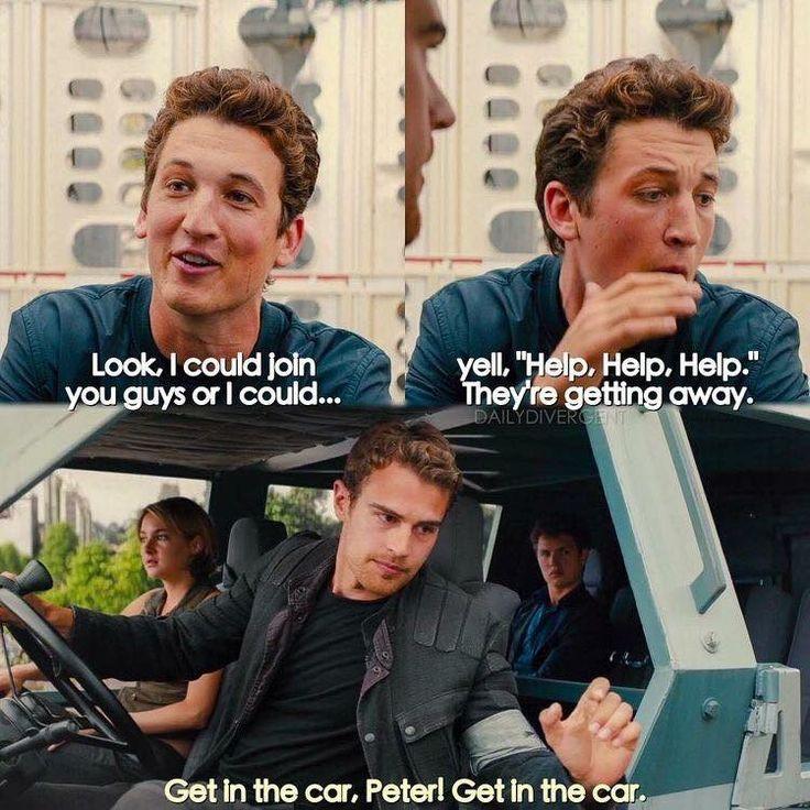 Peter is so darn annoying but so funny, and yes I did just say darn. That just shows how divergent affects our lives