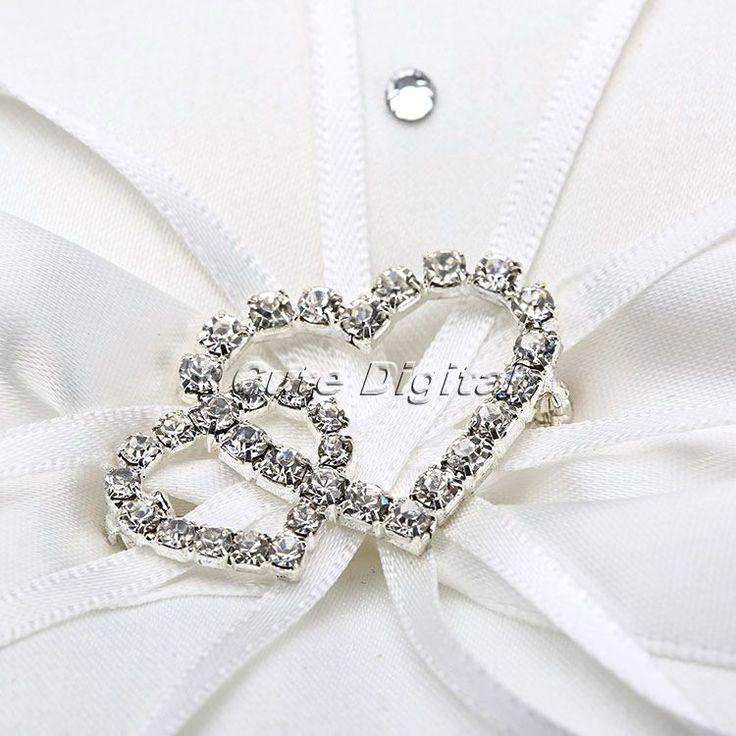 9.5 x 9.5 / 14 x 14 / 19 x 19 см бантом кристалл подушка обручальное кольцо подушка подушкообразное кольца ну вечеринку украшения свадебные украшения сада купить на AliExpress