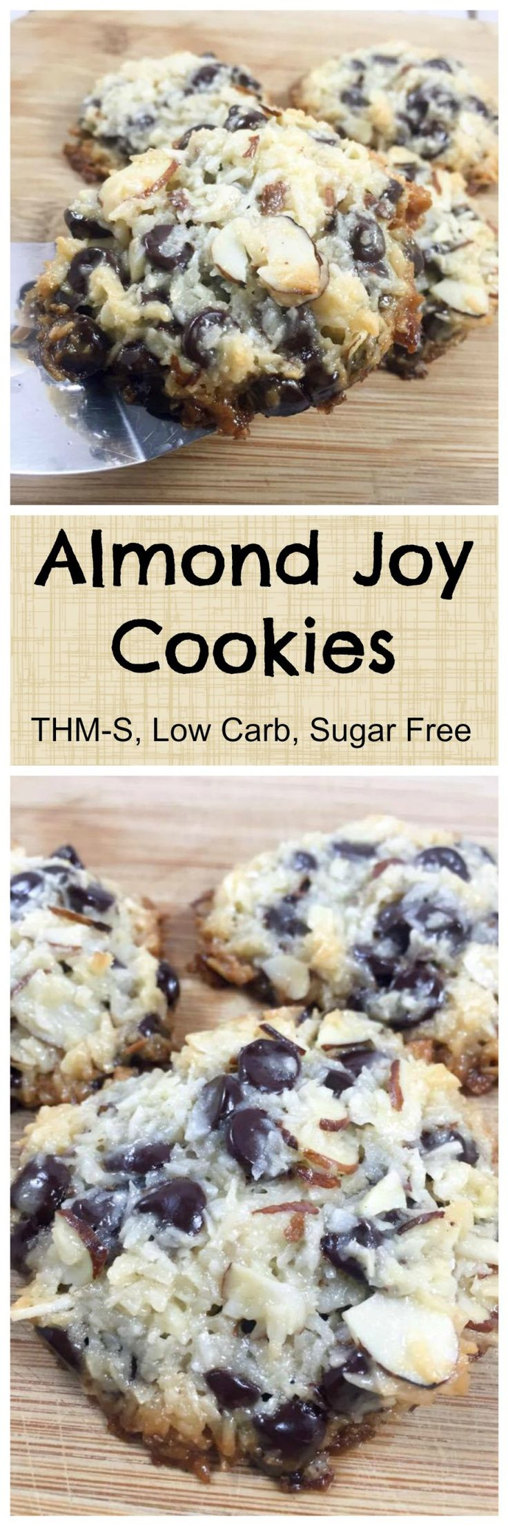 Low Carb, Sugar Free Almond Joy Cookies be sure to use the home made sugar free sweeten condesed milk, not the regular store bought.