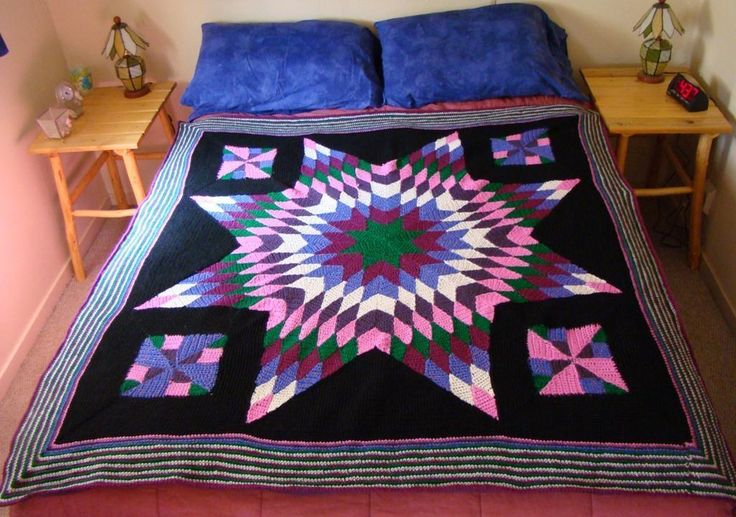 Star Quilt Wool Blanket Crochet Patterns Amp Projects