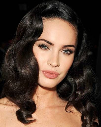 Great coloring. Dark hair, blue eyes, light skin. Megan Fox.