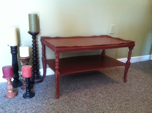 What A Find! This Little Number Is A Smallish Coffee Table That Has Been  Painted In A Barn Red, Distressed And Waxed. $50 Available In Lynchburg VA  From ...