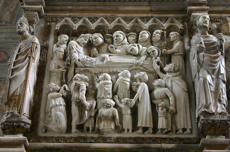 Left-side panel from the front of Peter of Verona's grave in the Cappella Portinari chapel | #Sant'Eustorgio church | (Picture by Giovanni Dall'Orto) | #Milan