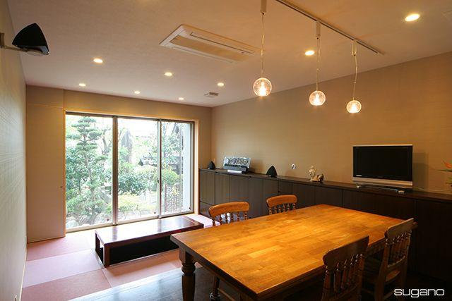 ピンクの畳を敷いた畳コーナー!#和風住宅 #住宅 #家づくり #新築 #ldk #畳コーナー #ピンクの畳 #設計事務所 #菅野企画設計