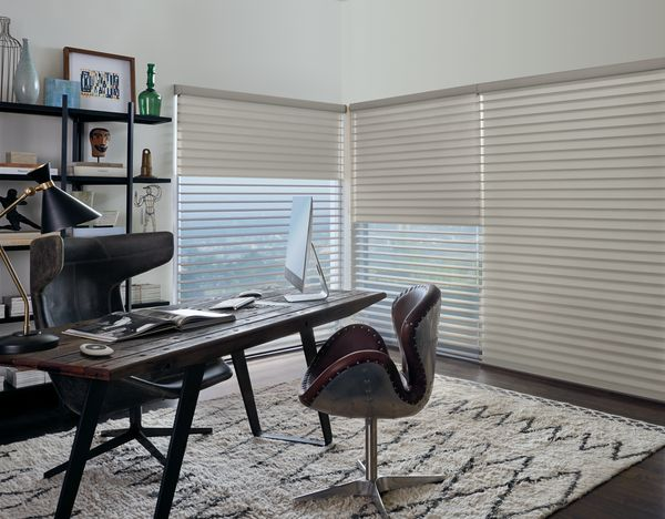 Perfect For Any Room In The House Home Office Bedroom Kitchen And Even The Media Room Hunter Douglas Silhouette Shading Home Decor Interior Design Interior