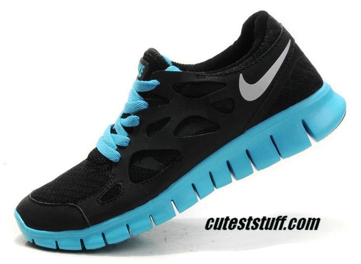 521af3be3028d ... Womens Nike Free Run 2 Black Silver Tide Pool Blue Shoes   49.66 ...