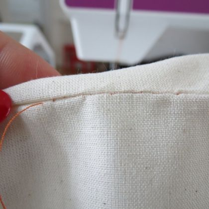 Couture invisible à la main