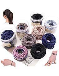Minlop 100 Stück Haargummis Elastisch Stirnband Für Pferdeschwanz …