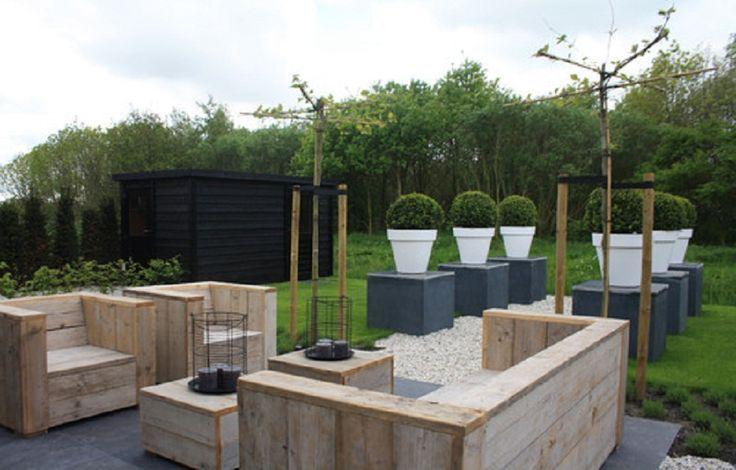 Contemporary Outdoor Pallet Patio Furniture - tomorrows adventures
