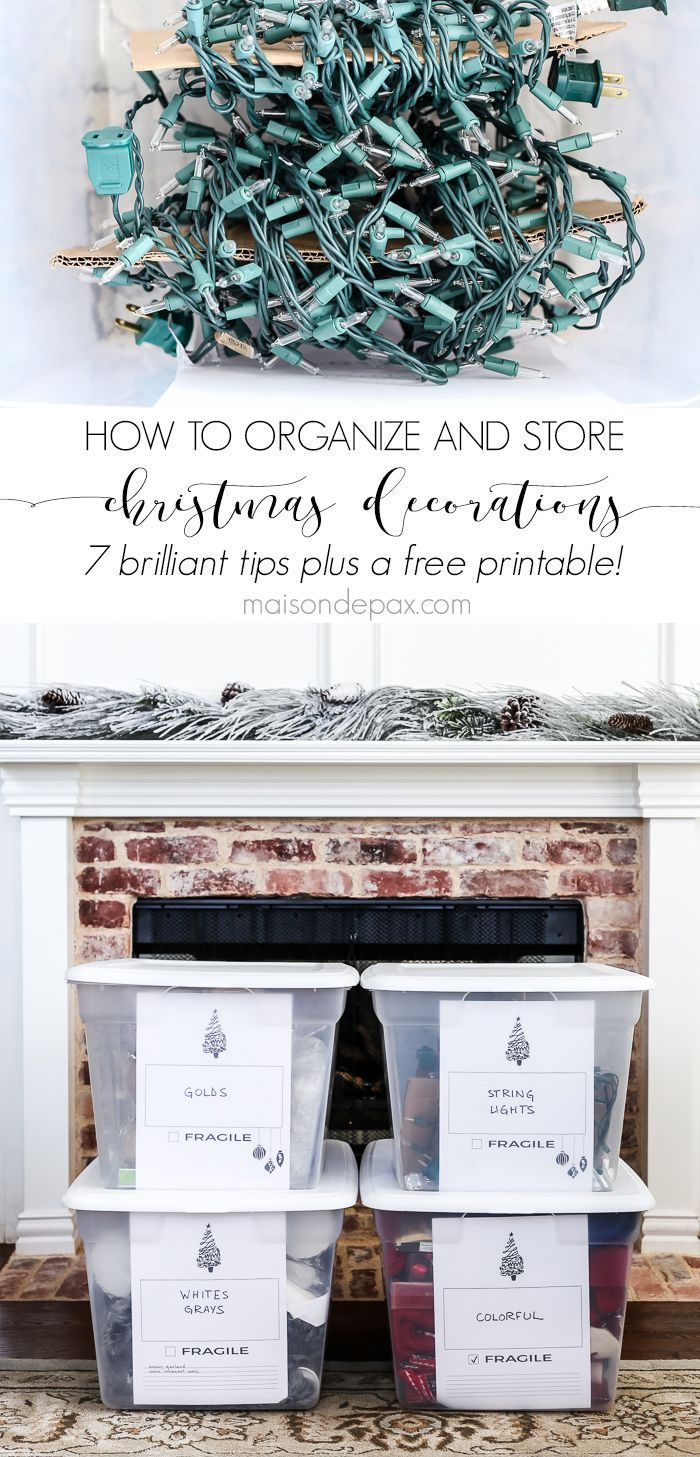 How To Organize And Store Christmas Decorations Christmas Organization Storing Christmas Decorations Christmas Storage
