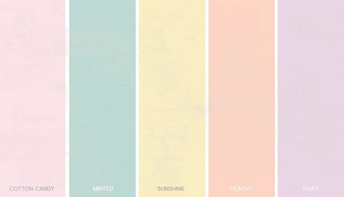 Pastel Color Palette | Pastel colours are the kindest, softest colours in the colour spectrum.