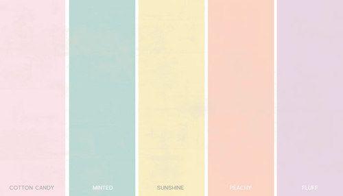 Pastel Color Palette | Pastel colours are the kindest, softest colours in the colour spectrum.