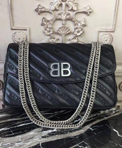 6cbb2d3ce6 Replica Balenciaga BB Round M Black  6922 2