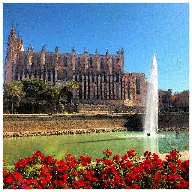 Udover spanske lækkerier som tapas og paella, gemmer Mallorca også på flotte lokale byer. Store som små. Her har I et billede af den flotte La Seu katedral fra hovedstaden Palma. Du kan læse mere om Mallorca her: www.apollorejser.dk/rejser/europa/spanien/mallorca