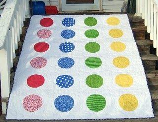 twister quilt - super fun picnic quilt!
