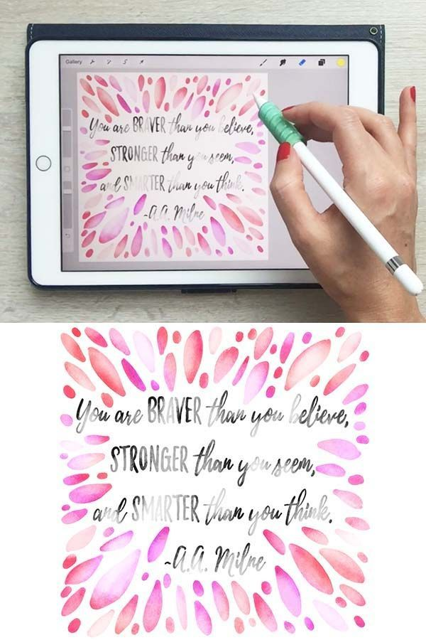 Watercolor Hand Lettering On Your Ipad In Procreate Free Brushes