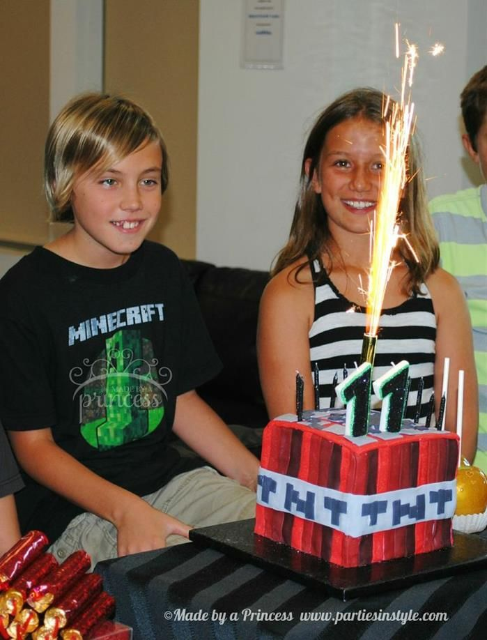 Minecraft Birthday Party Planning Ideas Supplies Idea Cake TNT