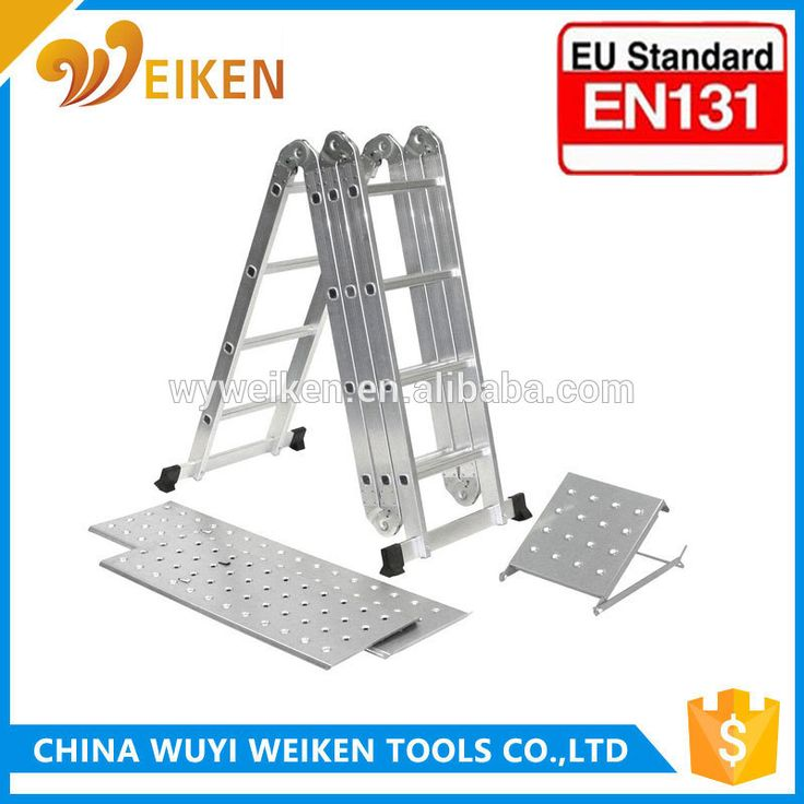 China Hardware Tools EN131 Certificate Aluminum Folding Ladder Aluminum Mini Scaffolding Ladder